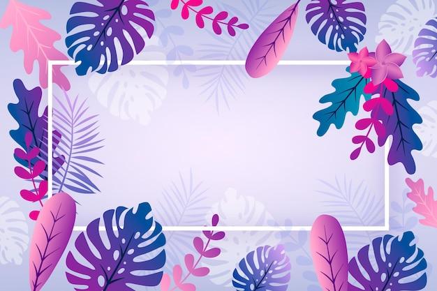 Papel de parede de verão com folhas