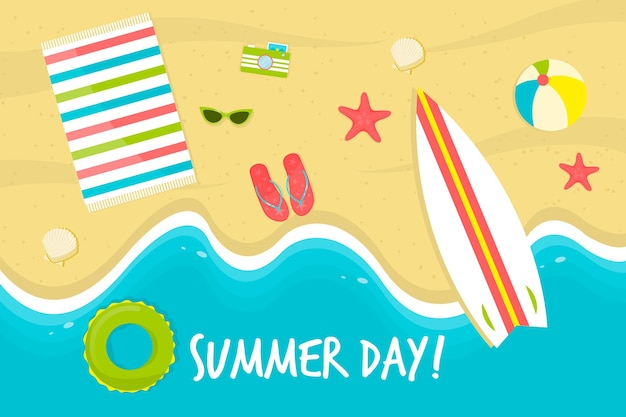 Papel de parede de verão com praia