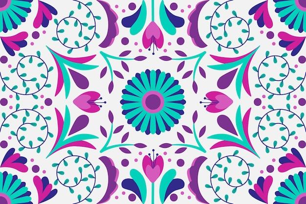 Papel de parede decorativo mexicano colorido