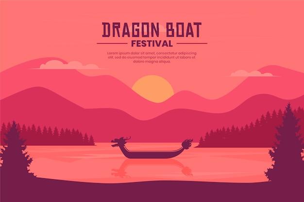 Papel de parede decorativo para barco dragão