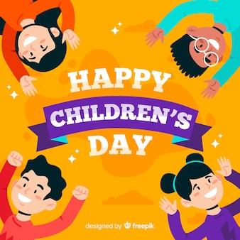 Papel de parede dia das crianças design plano