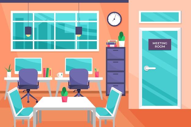 Papel de parede do escritório para videochamada
