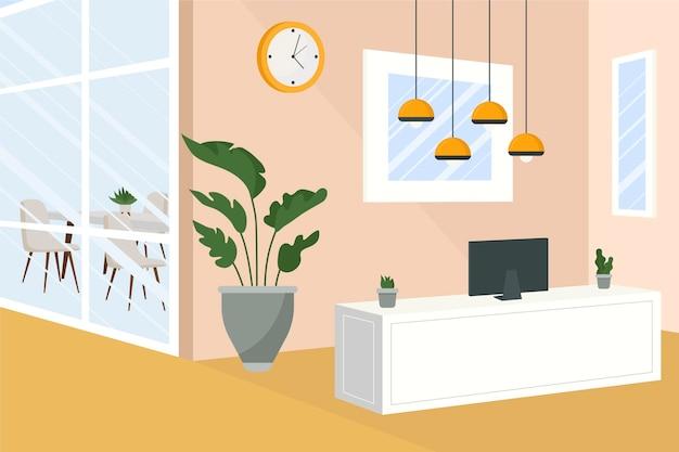 Papel de parede do escritório para videochamadas