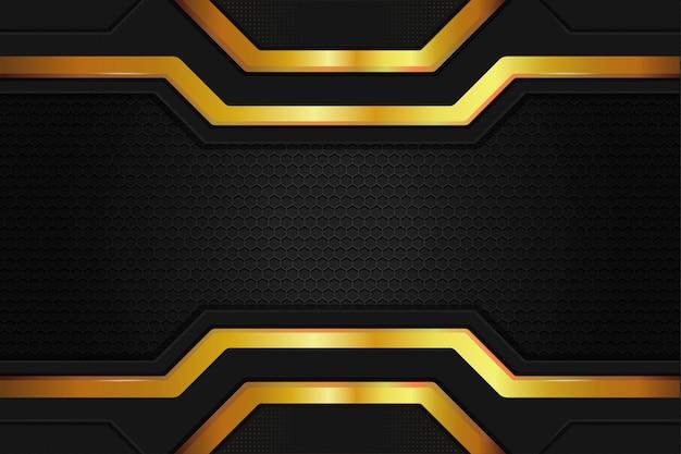 Papel de parede elegante com fundo de metal e aço na cor ouro preto