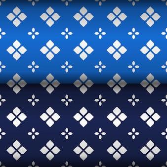 Papel de parede elegante fundo batik sem costura padrão em amostras de cores