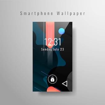 Papel de parede elegante smartphone moderno
