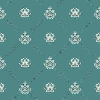 Papel de parede em estilo barroco real. plano de fundo sem costura real barroco padrão infinito, cenário de decoração real barroco, padrão de vetor de damasco renascentista