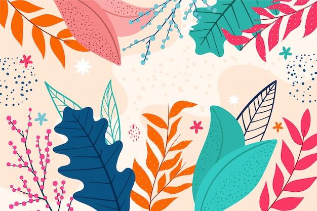 Papel de parede floral abstrato