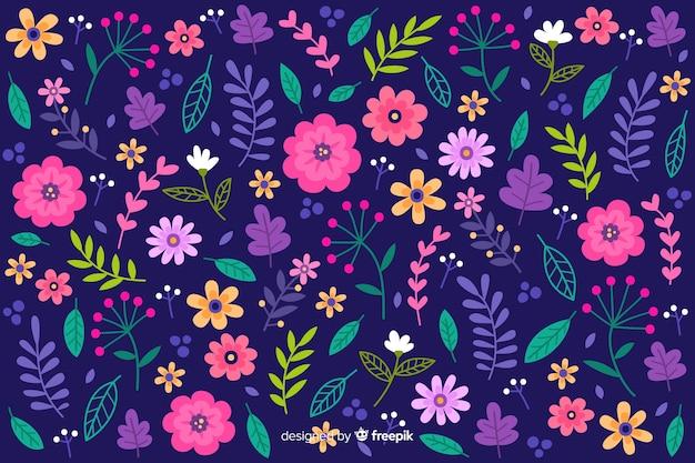 Papel de parede floral colorido servindo