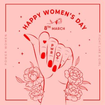 Papel de parede floral do dia da mulher