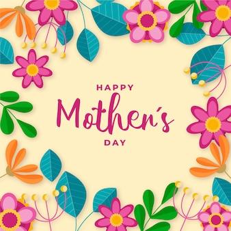 Papel de parede floral do dia das mães