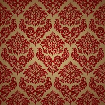 Papel de parede floral ornamental de luxo