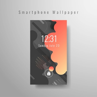 Papel de parede futurista abstrato para smartphone