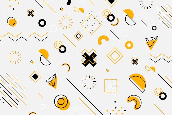 Papel de parede geométrico de design gráfico