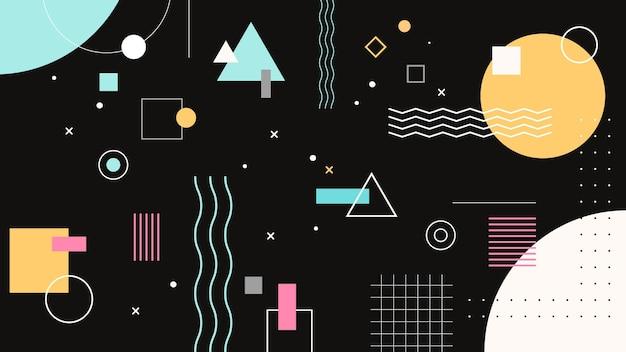 Papel de parede geométrico de memphis criativo