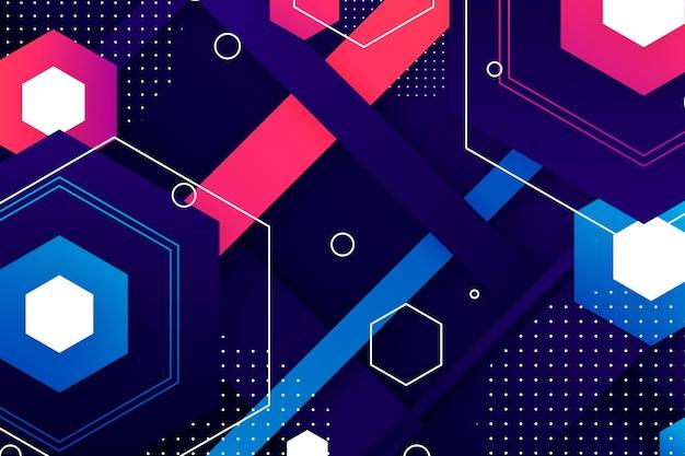 Papel de parede gradiente abstrato com formas geométricas