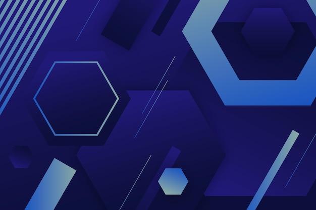 Papel de parede gradiente colorido com formas geométricas