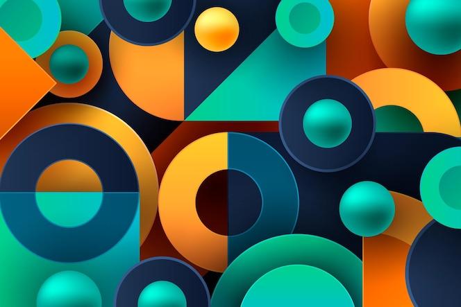 Papel de parede gradiente com formas geométricas