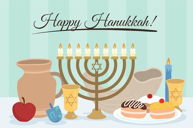 Papel de parede hanukkah desenhado à mão