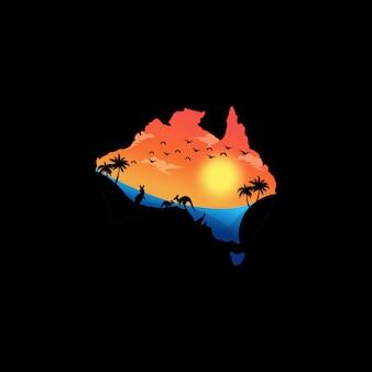 Papel de parede impressionante da arte da austrália