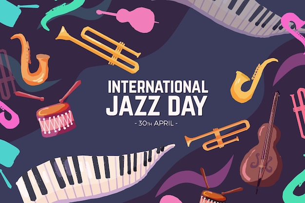 Papel de parede internacional do dia do jazz
