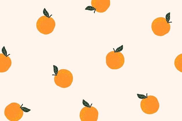 Papel de parede laranja da área de trabalho, vetor fofo