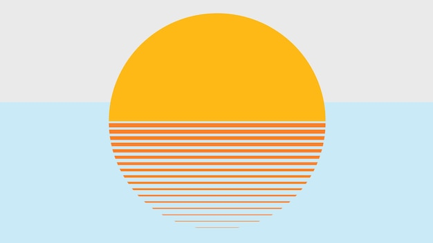 Papel de parede laranja vetor estético do sol laranja