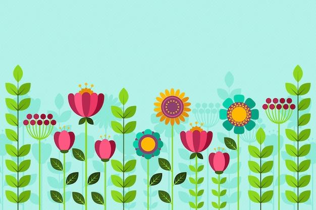 Papel de parede liso colorido de primavera