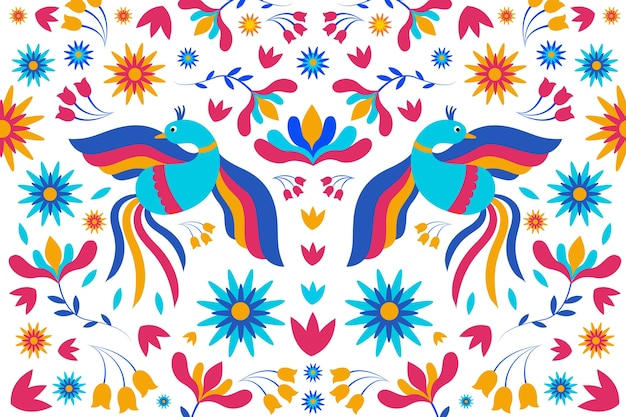 Papel de parede mexicano colorido liso