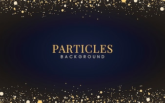 Papel de parede mínimo com partículas decorativas de glitter dourados