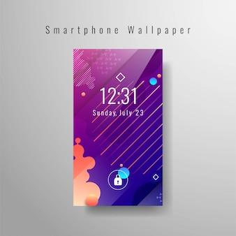 Papel de parede moderno smartphone elegante