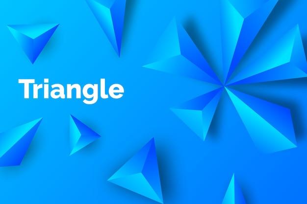 Papel de parede monocromático do triângulo 3d