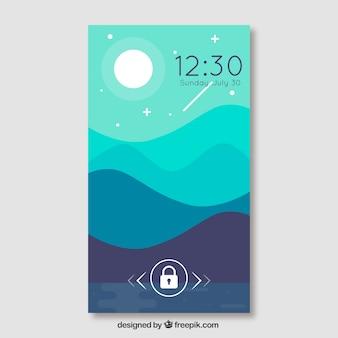 Papel de parede móvel com paisagem noturna