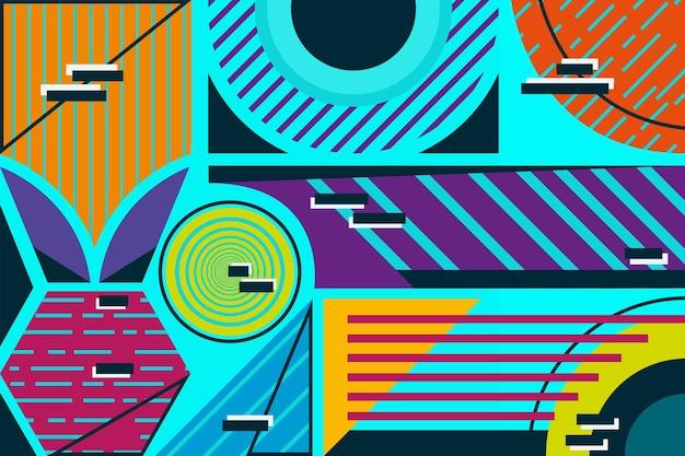 Papel de parede mural geométrico