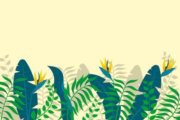 Papel de parede mural tropical