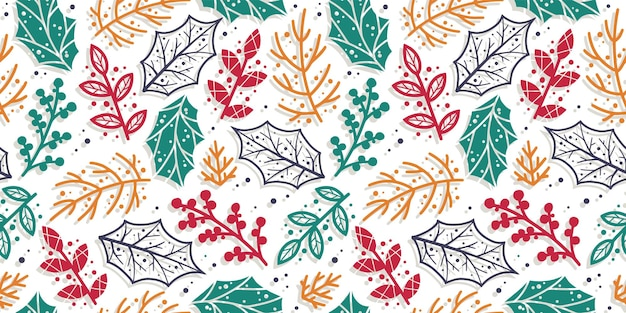 Papel de parede padrão com folha e galho para design