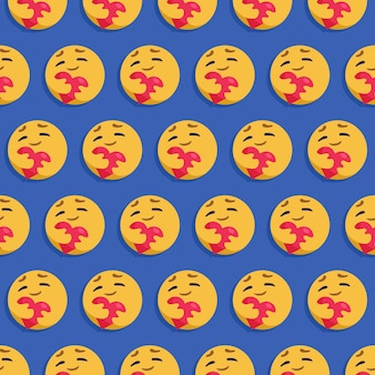 Papel de parede padrão sem emenda de emoticon. expressão bonitinha.