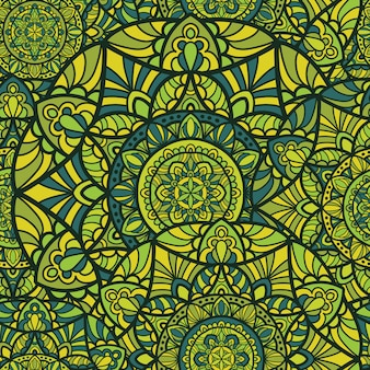 Papel de parede padrão sem emenda mandala vector design para impressão. ornamento tribal.