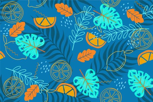 Papel de parede padrão verão para zoom design