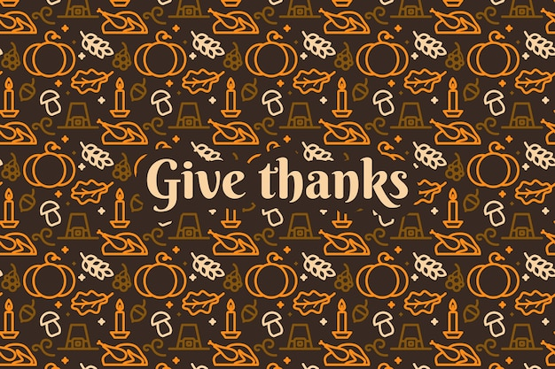 Papel de parede para o conceito de dia de ação de graças