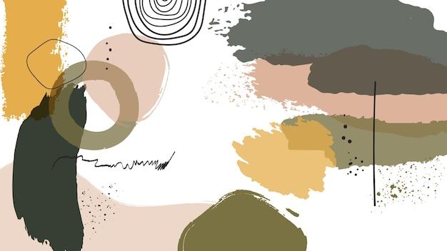 Papel de parede pintado abstrato
