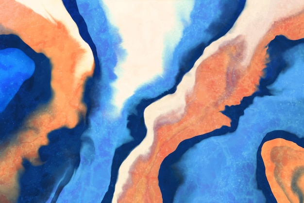 Papel de parede pintado em acrílico colorido