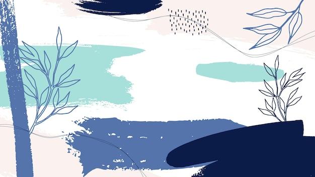 Papel de parede pintado em pastel abstrato