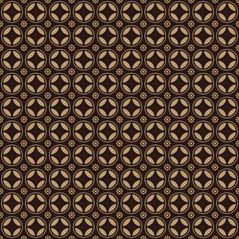 Papel de parede plano de fundo padrão geométrico tradicional batik indonésia sem emenda em estilo vintage marrom