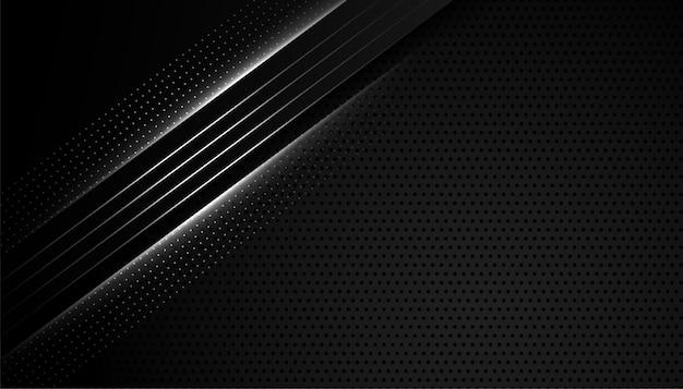 Papel de parede preto abstrato com efeito de linhas Vetor grátis