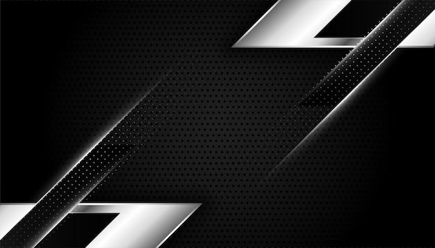 Papel de parede preto e prata abstrato com formas geométricas