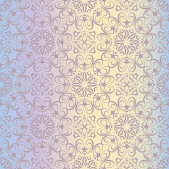 Papel de parede real padrão floral sem costura, fundo de luxo