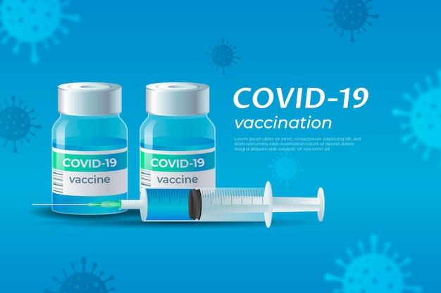 Papel de parede realista de vacina contra coronavírus