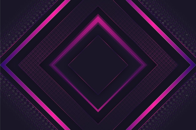 Papel de parede realista elegante formas geométricas