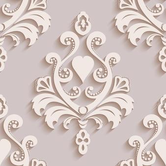 Papel de parede sem costura no estilo barroco.